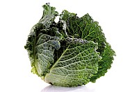 Savoy cabbage, close-up
