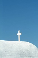 Cross on a Building Roof, Greece
