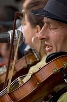 Violinist, Folk on the Rocks Festival, Yellowknife, NT