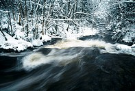 Brook in Winter, Nova Scotia