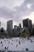 Ice Skating Cityscape