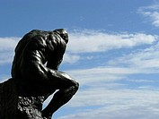 'The Thinker' statue  by Auguste Rodin. Malaga, Andalusia, Spain