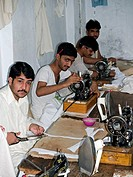 Garment workers in a factory, Peshawar, Pakistan