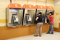 Public phones in Town Hall Station, Sydney, New South Wales, Australia