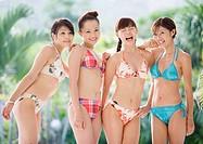 Women wearing bikini