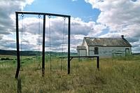 Swingset at Old School House, Qu´Appelle Valley, Saskatchewan