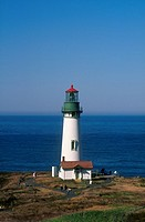 View of Yaquina Head Lighthouse on a Clear Day