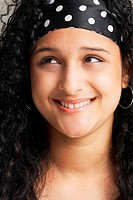 Close-up of a teenage girl smiling