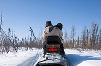 People on a Snow Mobile, Gordon Lake, Northwest Territories