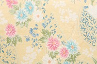 Japanese paper with floral pattern