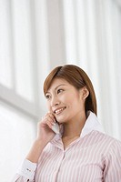 Business Woman Talking On Cell-phone