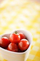 Cherry Tomato in Heart-shaped Bowl