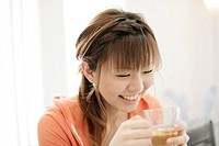 Girl Having Herb Tea