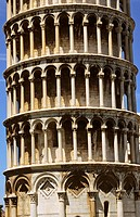 the Leaning tower built in 1173, piazza del Duomo, Pisa, Tuscany. Italy