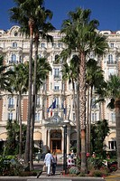 Carlton Inter-Continental hotel. Cannes. Côte d´Azur. Provence. France.