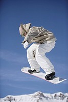 Snowboarder Flying Through the Air