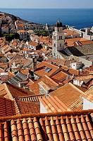 Dubrovnik medieval city. Southern Dalmatian coast. Croatia.