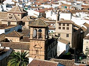 Antequera seen from its castle. Malaga province. Andalucia. Spain