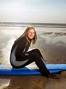Portrait of a female surfer