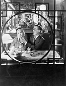 Couple through window in restaurant All persons depicted are not longer living and no estate exists Supplier warranties that there will be no model re...