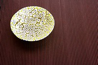 Close-up of a ceramic bowl on a table
