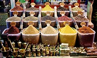 Spices in the Misir Carsisi (Egyptian bazaar). Istanbul. Turkey.