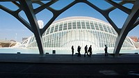 Hemisferic (planetarium and cinema). City of Arts and Sciences, by S. Calatrava. Valencia. Spain.
