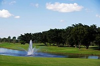 Fountain in a golf course