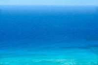 Panoramic view of a sea, Diamond Head, Waikiki Beach, Honolulu, Oahu, Hawaii Islands, USA