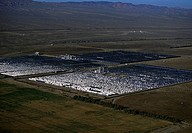 Solar power via parabolic trough mirrors, Daggett, California