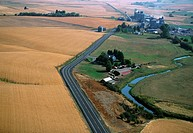 Aerial, Farm country, Washington State
