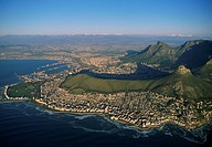 Clifton Beaches with Lions Head and Table Mountain, Capetown, South Africa