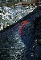 Flowing molten lava, Hawaii