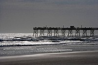 Jetty in the sea, Daytona Beach, Florida, USA