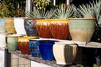 Close-up of vases in a row, Florida Keys, Florida, USA (thumbnail)