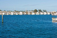 Boats moored at a dock, Garrison Bight Marina, Key West, Florida, USA