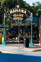 Entrance gate of a market, Bahama Village Market, Key West, Florida, USA
