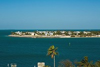 Town at the waterfront, Key West, Florida, USA