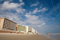 Low angle view of buildings near a beach, Daytona Beach, Florida, USA