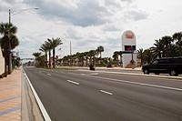 Car moving on the road, Daytona Beach, Florida, USA