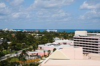 High angle view of buildings, Cable Beach, Nassau, Bahamas
