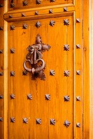 Close-up of a doorknocker, Toledo, Spain