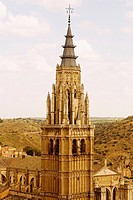 Cathedral in a city, Cathedral Of Toledo, Toledo, Spain