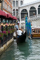 Restaurant at the waterfront, Grand Canal, Venice, Italy (thumbnail)