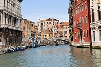 Bridge over a canal, Grand Canal, Venice, Italy