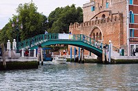 Footbridge over a canal, Venice, Italy