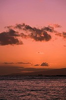 Clouds over the sea, Waikiki Beach, Honolulu, Oahu, Hawaii Islands, USA