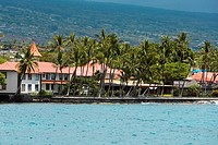 Buildings at the waterfront, Kona, Big Island, Hawaii Islands, USA
