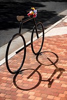 Sculpture of a bicycle, Honolulu, Oahu, Hawaii Islands, USA