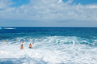 Group of people swimming in the sea, Big Island, Hawaii Islands, USA